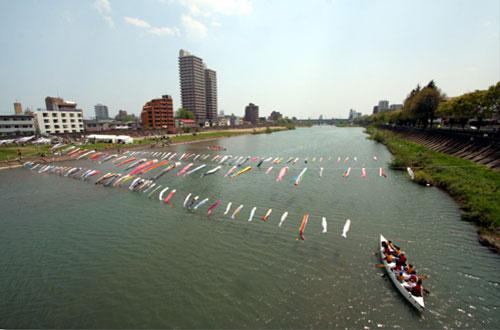 広瀬川で遊ぼう